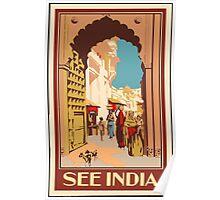 See Indian Vintage Travel Poster Poster