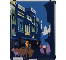 A Street by Midnight Visit India Vintage Travel Poster iPad Case/Skin