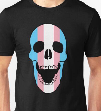 Transgender Pride Flag Skull Unisex T-Shirt