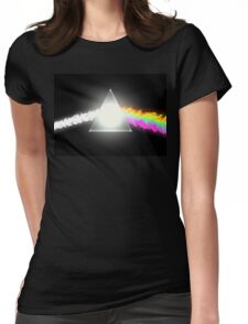 psychedelic dark side of the moon Womens Fitted T-Shirt