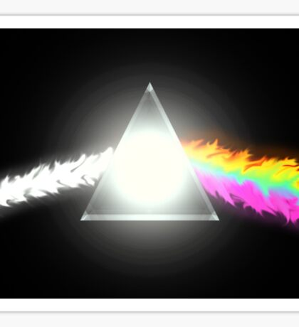 psychedelic dark side of the moon Sticker