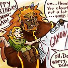 Ganondorf gets a very thoughtful gift by Figment Forms
