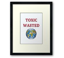 Toxic Wasted Planet Earth  Framed Print