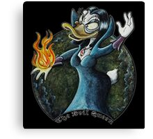 Evil Queen, Once upon a Duck Canvas Print