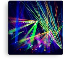 Laser Night - Styles666 Canvas Print