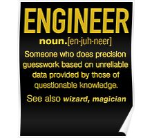ENGINEER DIFINITION T-shirt Poster