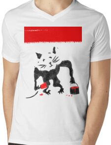 Rat Graffiti Mens V-Neck T-Shirt