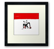 Rat Graffiti Framed Print