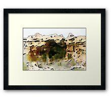 Cave of Grass Framed Print