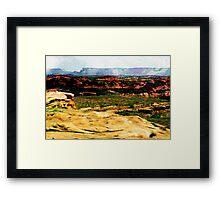 Spit Canyon Framed Print
