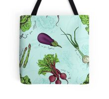 Alphabet Vegetables Tote Bag