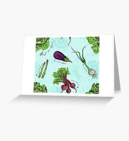 Alphabet Vegetables Greeting Card
