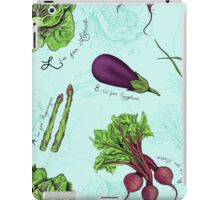 Alphabet Vegetables iPad Case/Skin