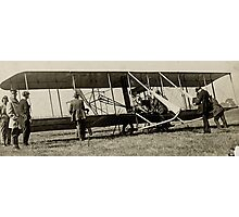 Wright Brothers Mechanical Plane Photographic Print