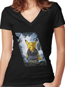 A PokeThief's End Women's Fitted V-Neck T-Shirt