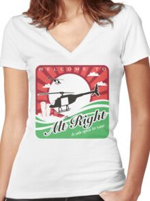 Welcome to the Alt Right Women's Fitted V-Neck T-Shirt