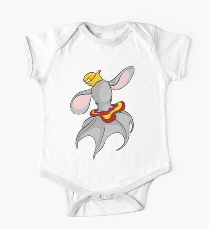 Cute Dumbo Octopus with Hat One Piece - Short Sleeve