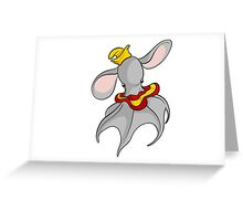 Cute Dumbo Octopus with Hat Greeting Card