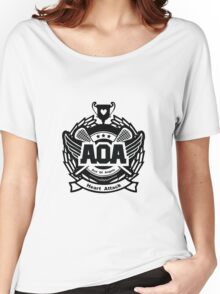 AOA Heart Attack Logo - Black Version Women's Relaxed Fit T-Shirt