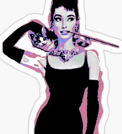 Audrey Hepburn Psychedelic Pop Art Portrait Sticker
