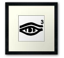 TDE Hiii Power Logo 3 Framed Print