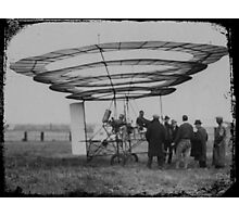 Early Manned Flight - Circle Wing Photographic Print