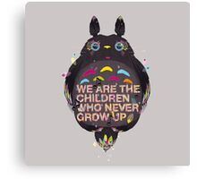 totoro we are the  children Canvas Print