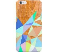 Wooden Geo Aqua iPhone Case/Skin