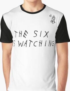 Drake TEE - THE SIX IS WATCHING Graphic T-Shirt
