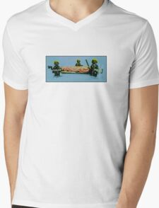 Making sure you get the last Rolo! Mens V-Neck T-Shirt