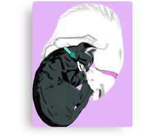 yin and yang cats Canvas Print