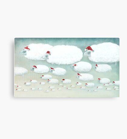 Christmas Cloudy Sheep Canvas Print