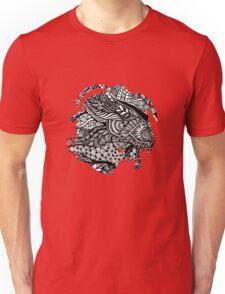 Hand drawing black and white zentangle pattern Unisex T-Shirt