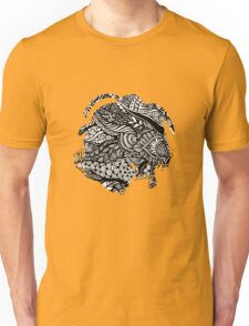 Hand drawing black and white zentangle pattern Unisex T-Shirt