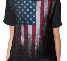 USA American Flag Chiffon Top
