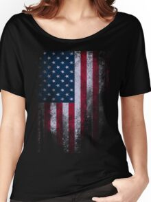 USA American Flag Women's Relaxed Fit T-Shirt