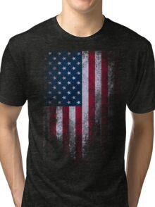 USA American Flag Tri-blend T-Shirt