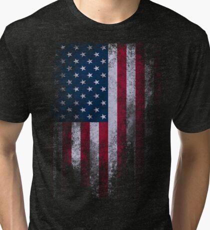 USA America Flag Tri-blend T-Shirt