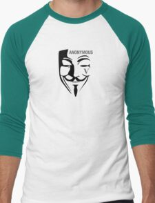 AnonymousV Men's Baseball ¾ T-Shirt