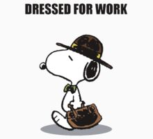 dressed for work snoopy Kids Tee