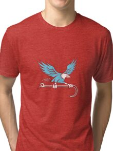 American Eagle Clutching Towing J Hook Retro Tri-blend T-Shirt