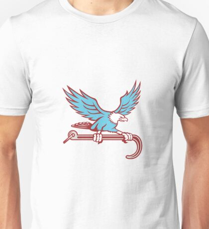 American Eagle Clutching Towing J Hook Retro Unisex T-Shirt