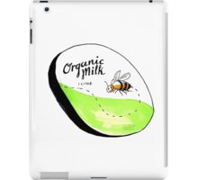 Bee Organic Milk Label Drawing iPad Case/Skin