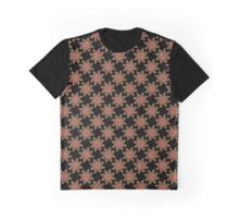 Neon Flower in Red & Brown Graphic T-Shirt