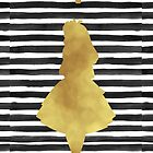 Alice black and gold by peggieprints