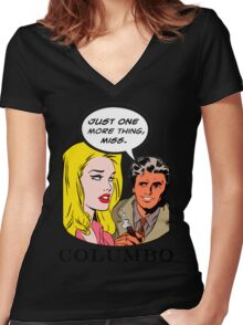 Comics Lieutenant Columbo Vintage Women's Fitted V-Neck T-Shirt