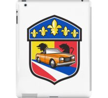 Vintage Cabriolet Fleur-de-Lis Crest Retro iPad Case/Skin