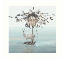 The Leaf Boatman Art Print