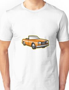 Vintage Cabriolet Top-Down Car Isolated Retro Unisex T-Shirt