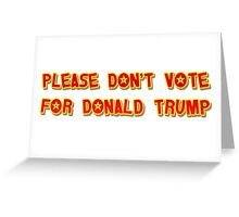 Donkey Trump Greeting Card